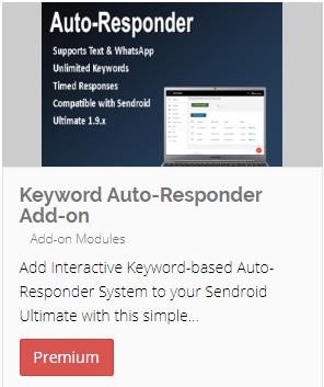 Keyword-based Auto-responder Add-on