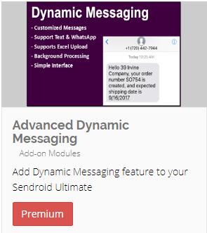 Dynamic/Advanced SMS Add-on